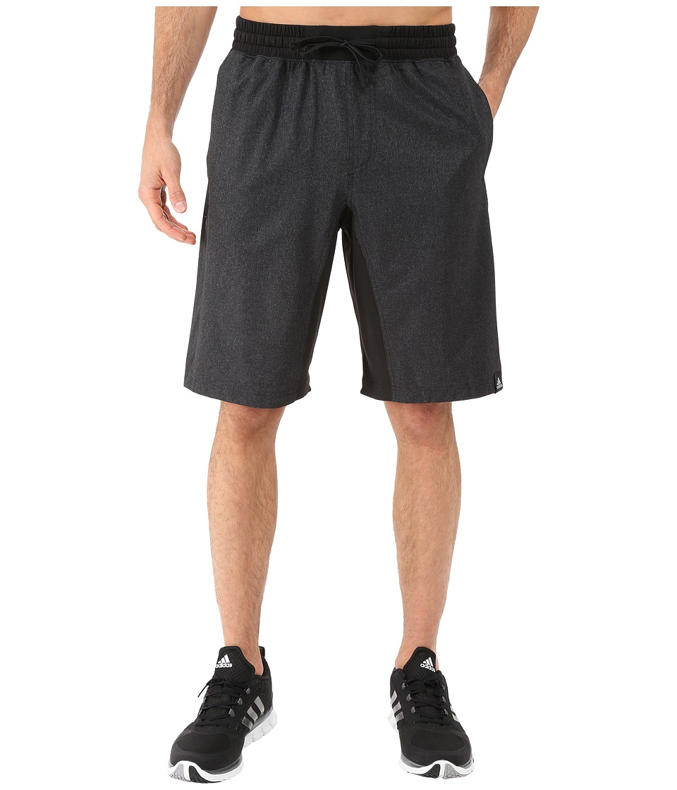 adidas - Standard One Woven Shorts (Dark Grey Heather/Black) Men's Shorts