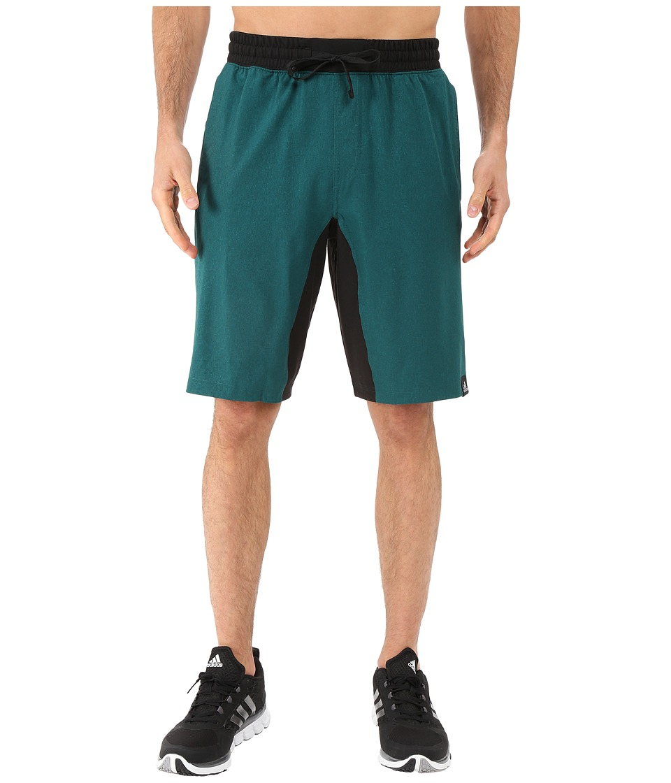 adidas - Standard One Woven Shorts (EQT Green Heather/Black) Men's Shorts