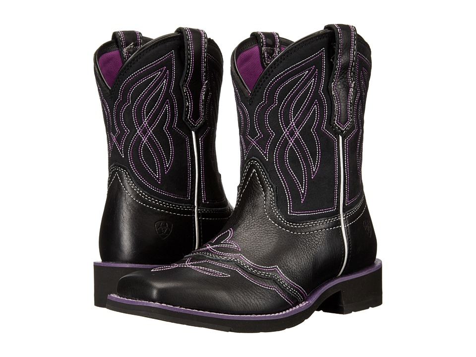 Ariat - Ranchbaby II (Black/Purple) Cowboy Boots