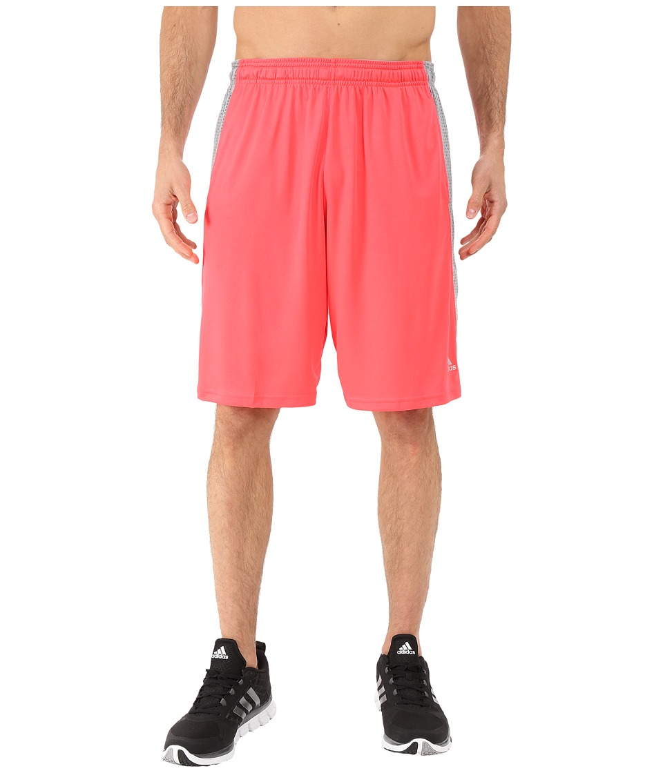 adidas - Aeroknit Shorts (Shock Red/Grey) Men's Shorts