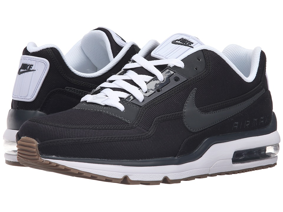 Nike - Air Max LTD 3 TXT (Black/Black/White/Gum Medium Brown/Deep Royal Blue) Men's Shoes