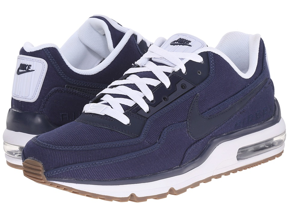 Nike - Air Max LTD 3 TXT (Midnight Navy/White/Gum Dark Brown/Obsidian) Men's Shoes