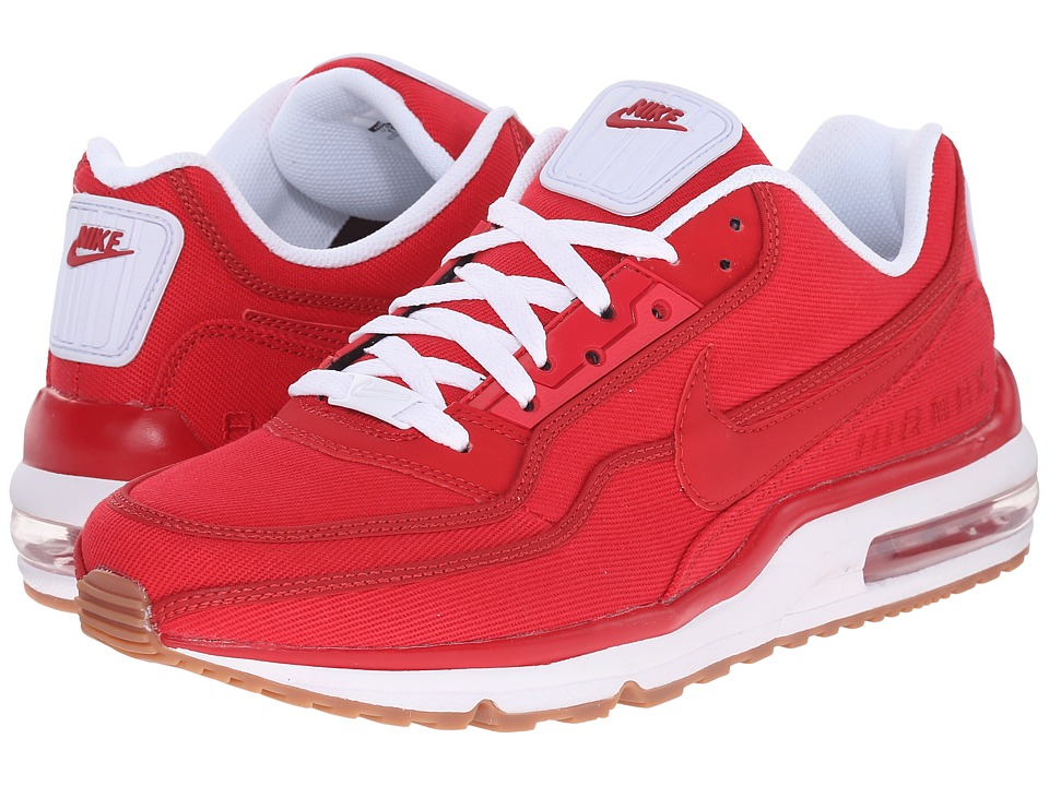 Nike - Air Max LTD 3 TXT (Gym Red/White/Gum Medium Brown/Gym Red) Men's Shoes