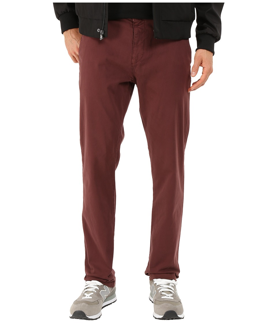 Mavi Jeans - Edward Straight Leg Trousers in Burgundy Twill (Burgundy Twill) Men's Jeans