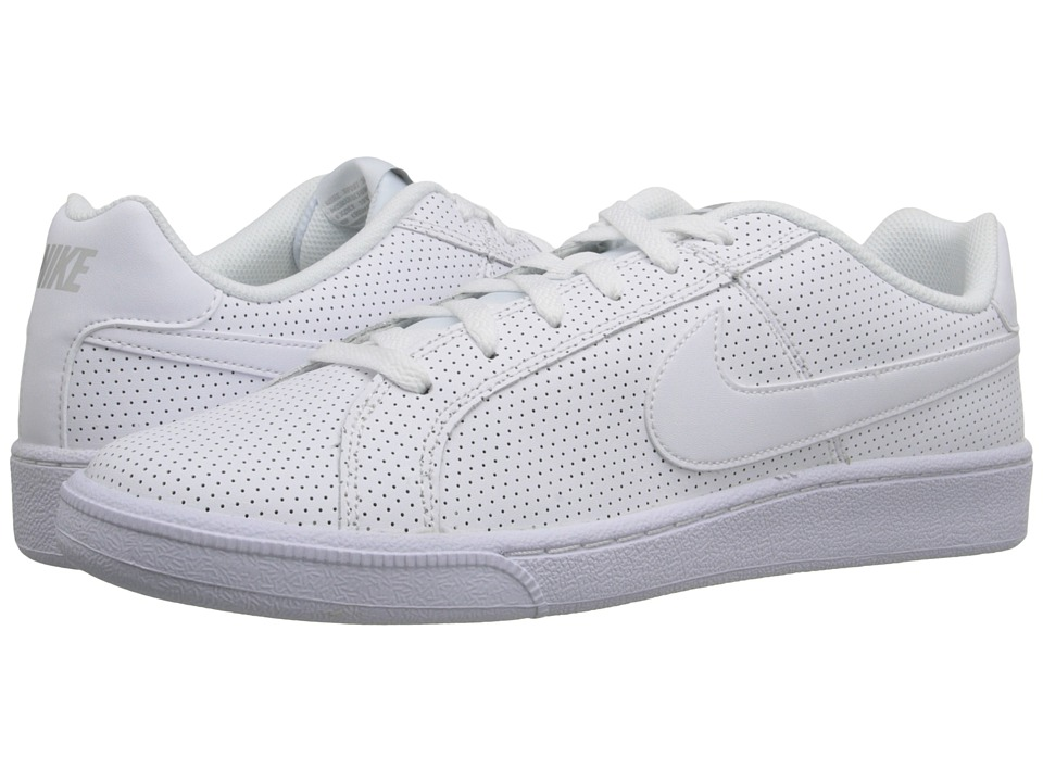 Nike - Court Royale Premium Leather (White/Metallic Silver/White) Men's Shoes