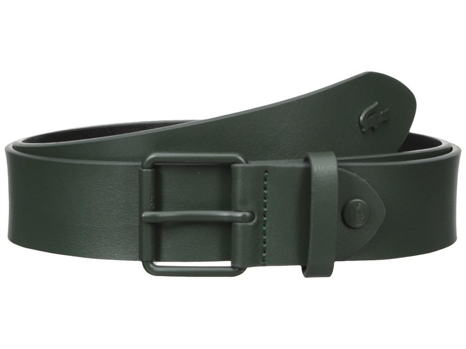 Lacoste - Sportswear Tonal Croc Belt (Khaki) Men's Belts