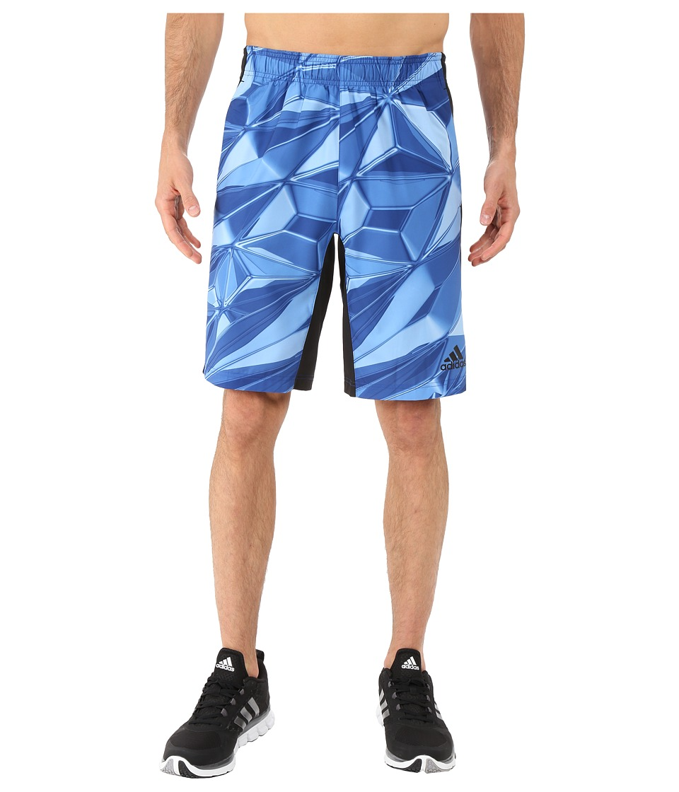 adidas - Team Issue 3-Stripes Shorts - Liquid Crystal Photo Print (Collegiate Royal/Black/Black) Men's Shorts