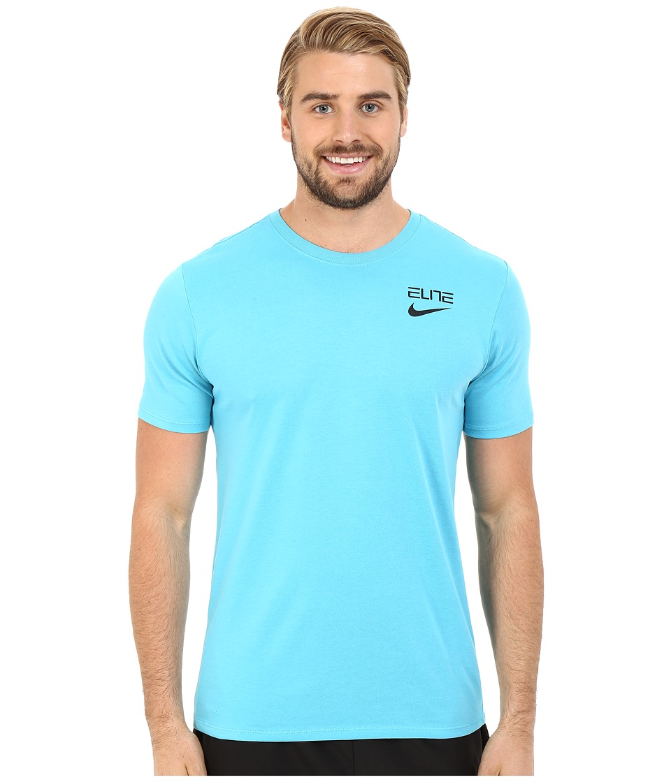 Nike - Elite Back Stripe Tee (Omega Blue) Men's T Shirt