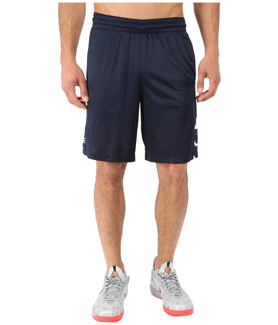 Nike - Elite Stripe Short (Obsidian/White/Obsidian/White) Men's Shorts