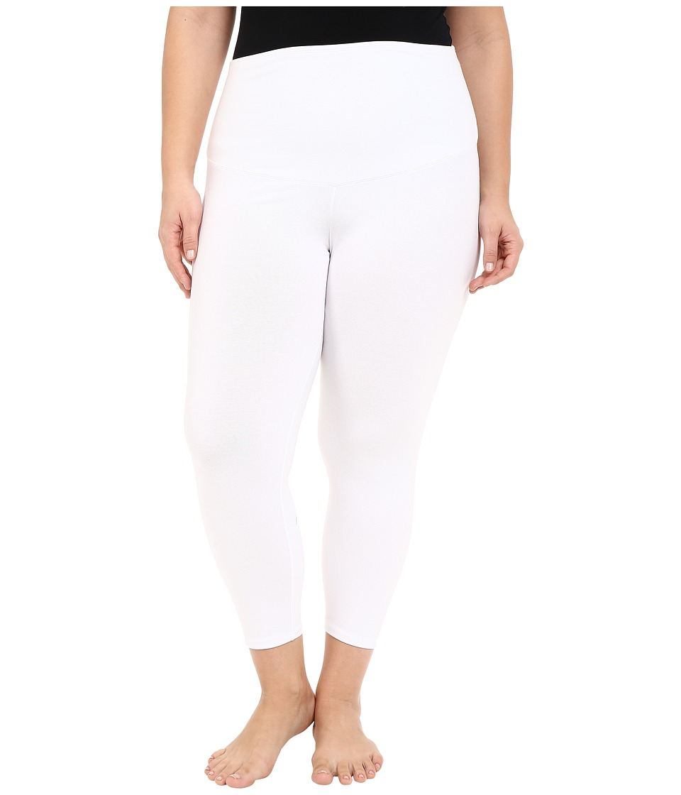 Yummie by Heather Thomson - Plus Size Gloria Skimmer Leggings (White) Women's Casual Pants