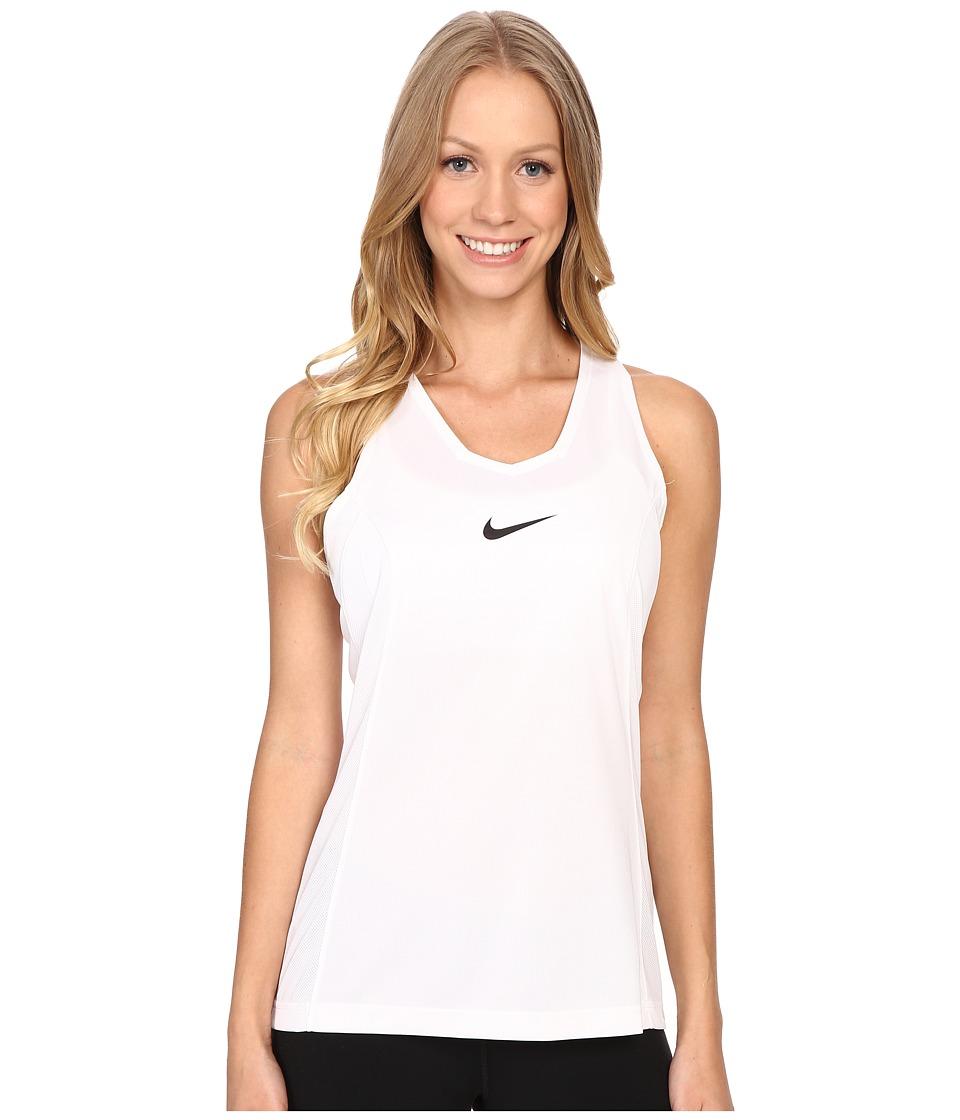 Nike - Elite Basketball Tank Top (White) Women's Clothing
