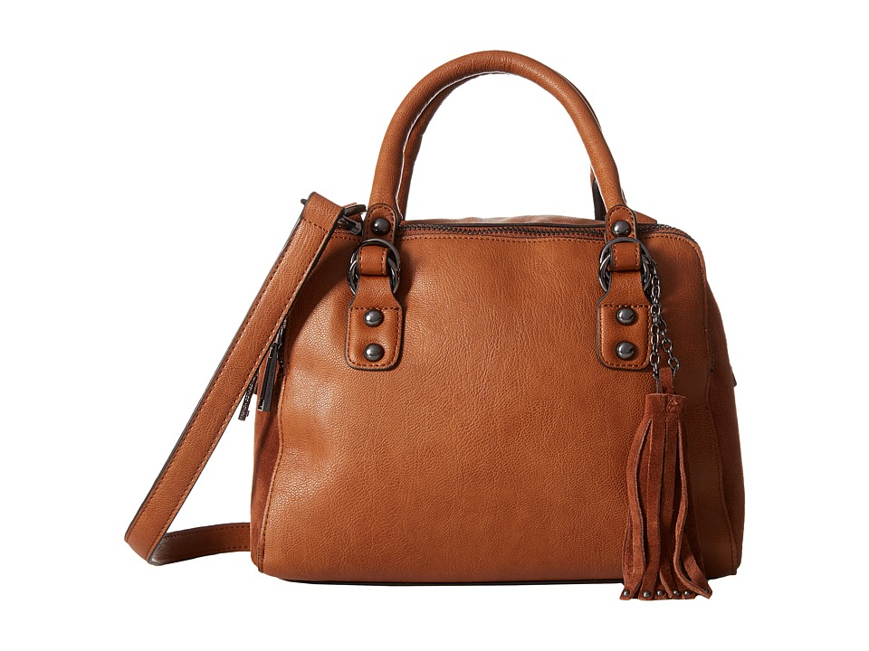 French Connection - Jenny Satchel (Nutmeg Mini Grain PU) Satchel Handbags