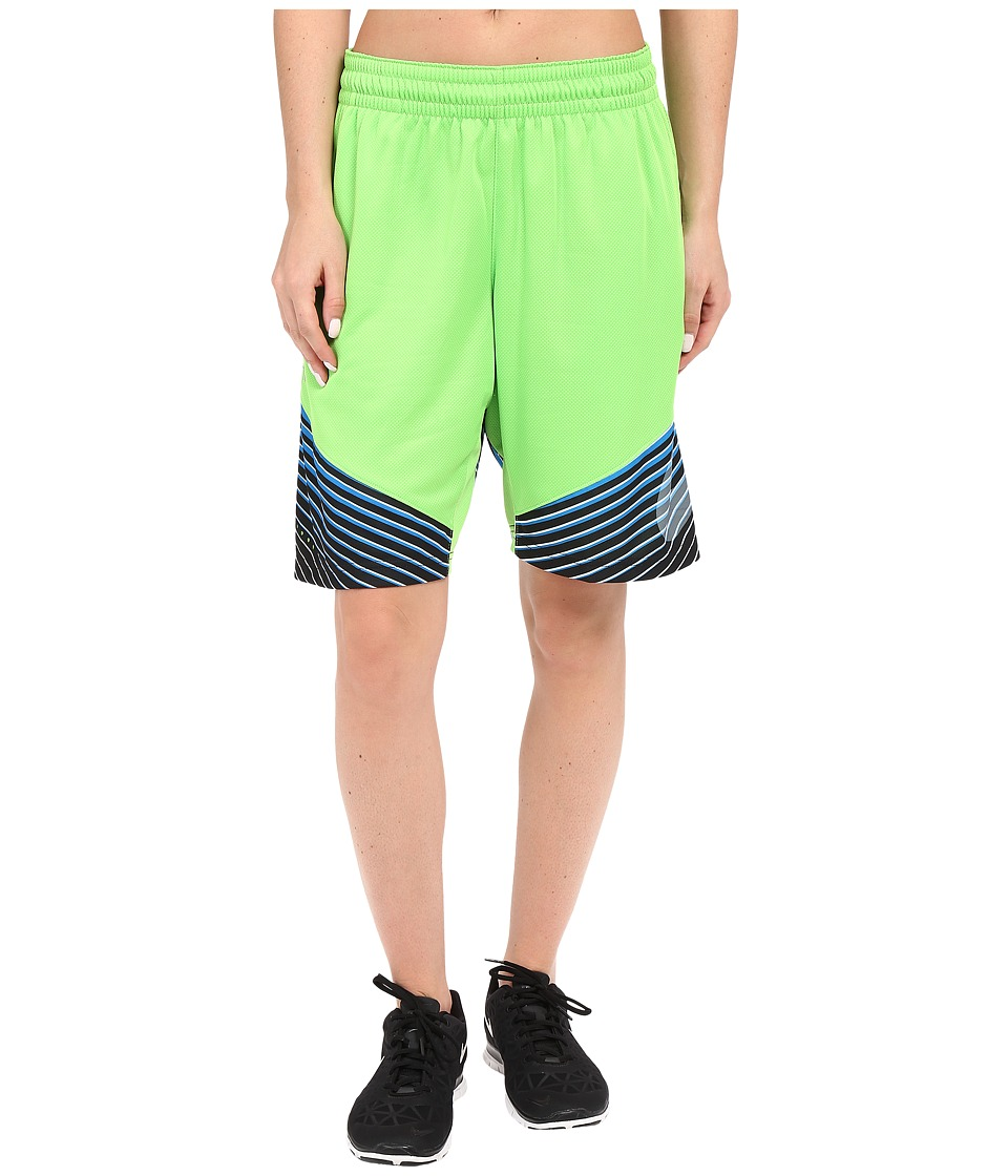 Nike Elite Basketball Short (Action Green/Photo Blue) Women