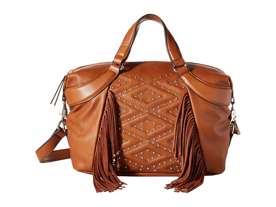 French Connection - Cassidy Satchel (Nutmeg Mini Grain PU) Satchel Handbags