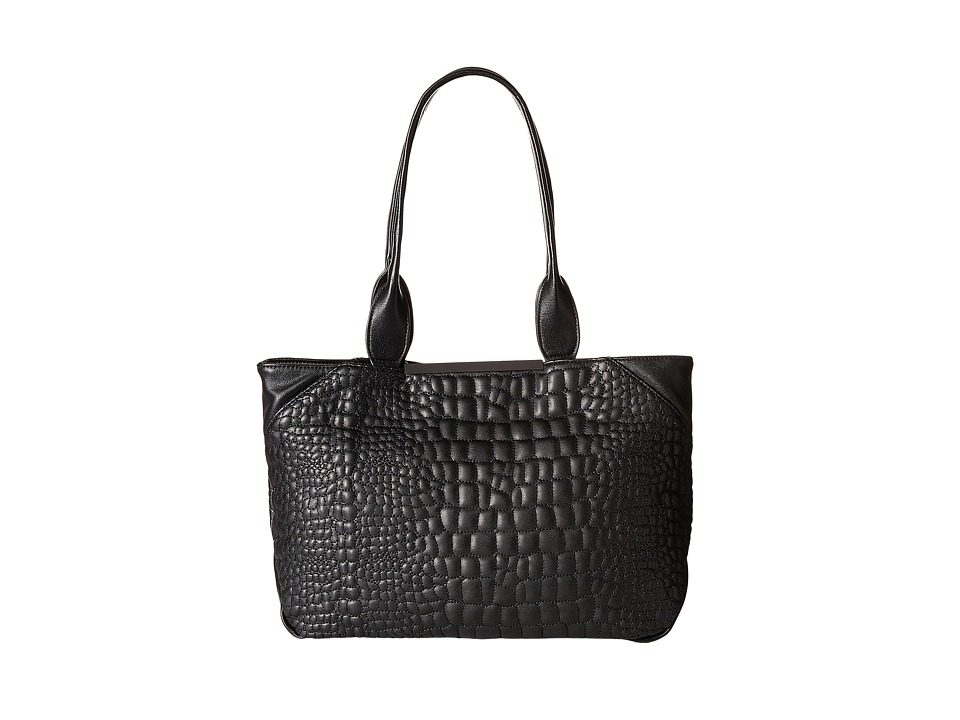 French Connection - Monica Tote (Black Quilted Lamb PU) Tote Handbags