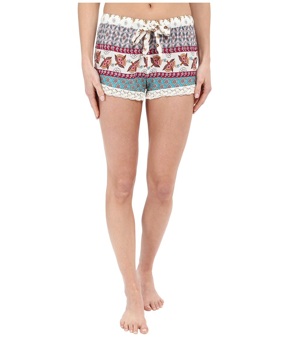 P.J. Salvage - Challe Chic Boho Print Shorts (Natural) Women's Pajama