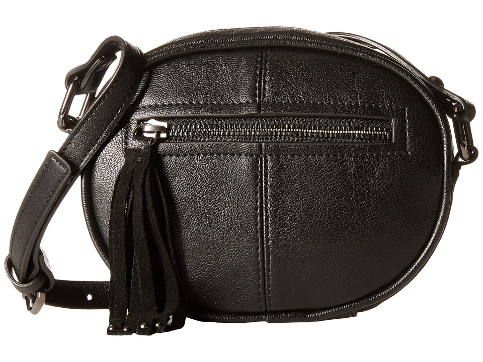 French Connection - Jenny Crossbody (Black Mini Grain PU) Cross Body Handbags