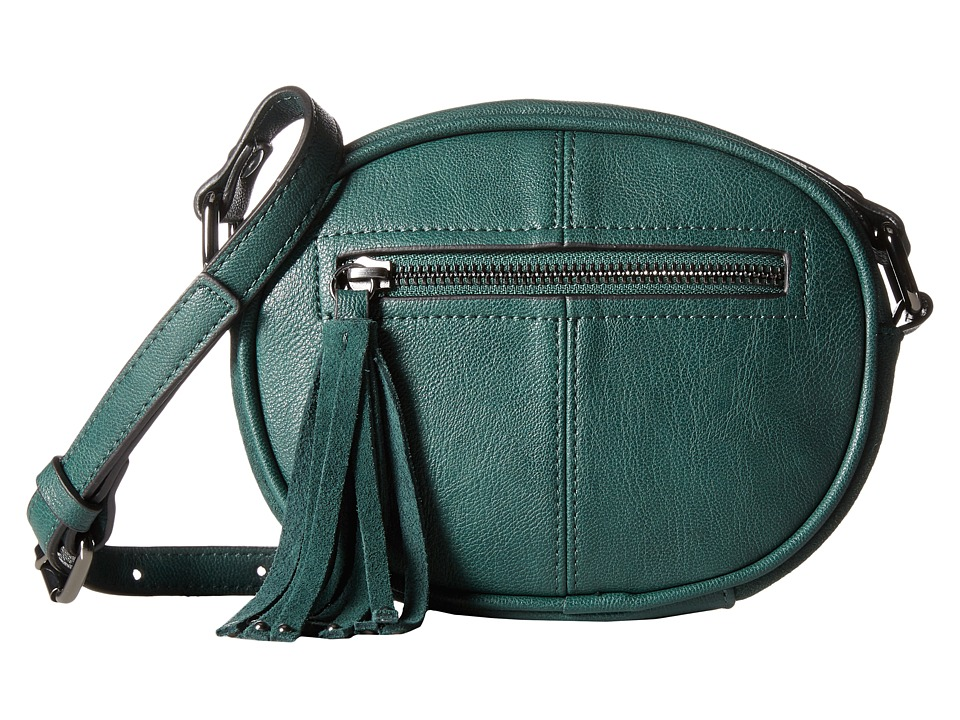French Connection - Jenny Crossbody (Holly Green Mini Grain PU) Cross Body Handbags