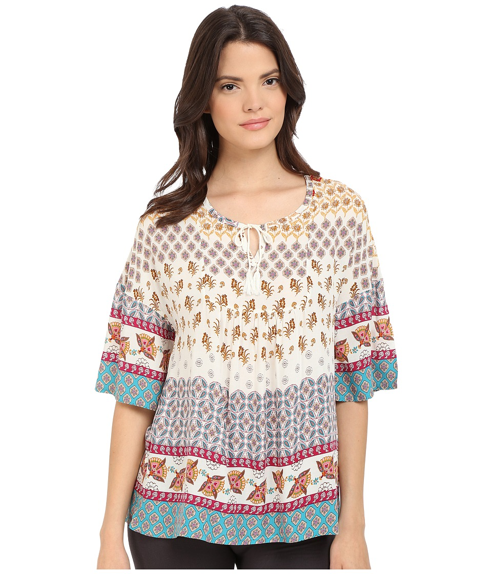 P.J. Salvage - Challe Chic Boho Tunic (Natural) Women's Blouse