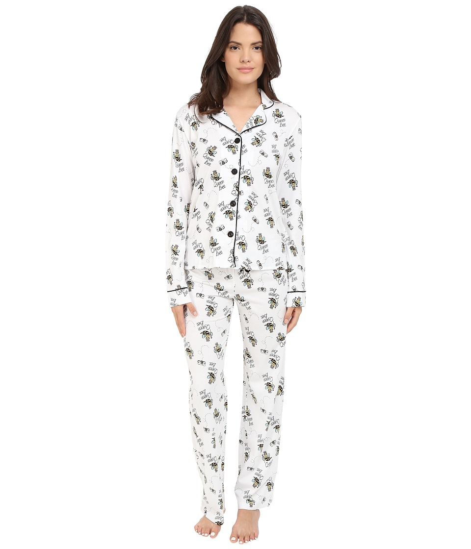 P.J. Salvage - Queen Bee PJ Set (Ivory) Women's Pajama Sets