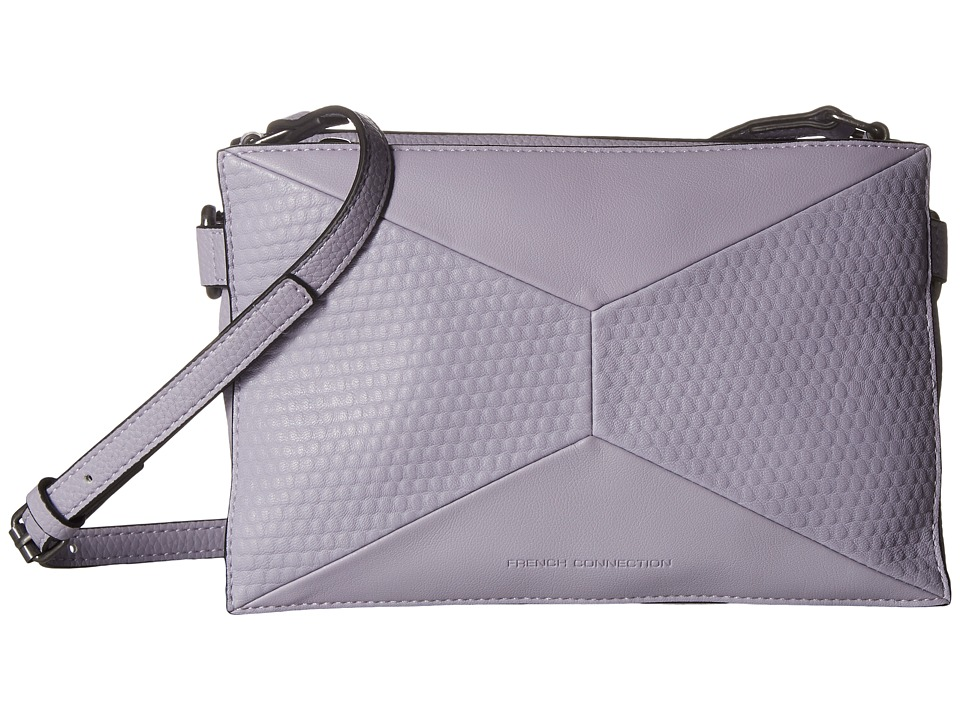 French Connection - Shane Crossbody (Swan Lake Pebble PU/Lamb) Cross Body Handbags