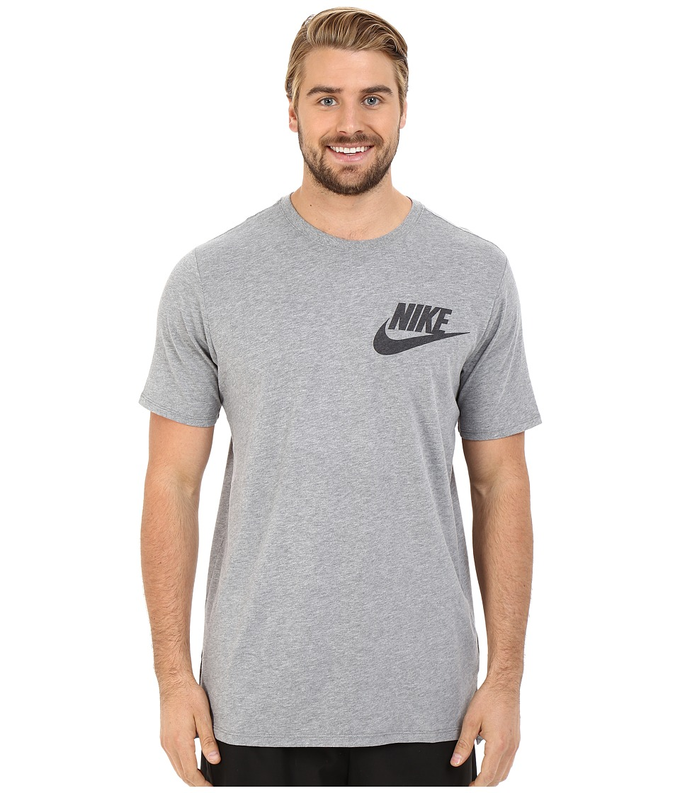 Nike - Futura Drop Hem Tee (Carbon Heather) Men