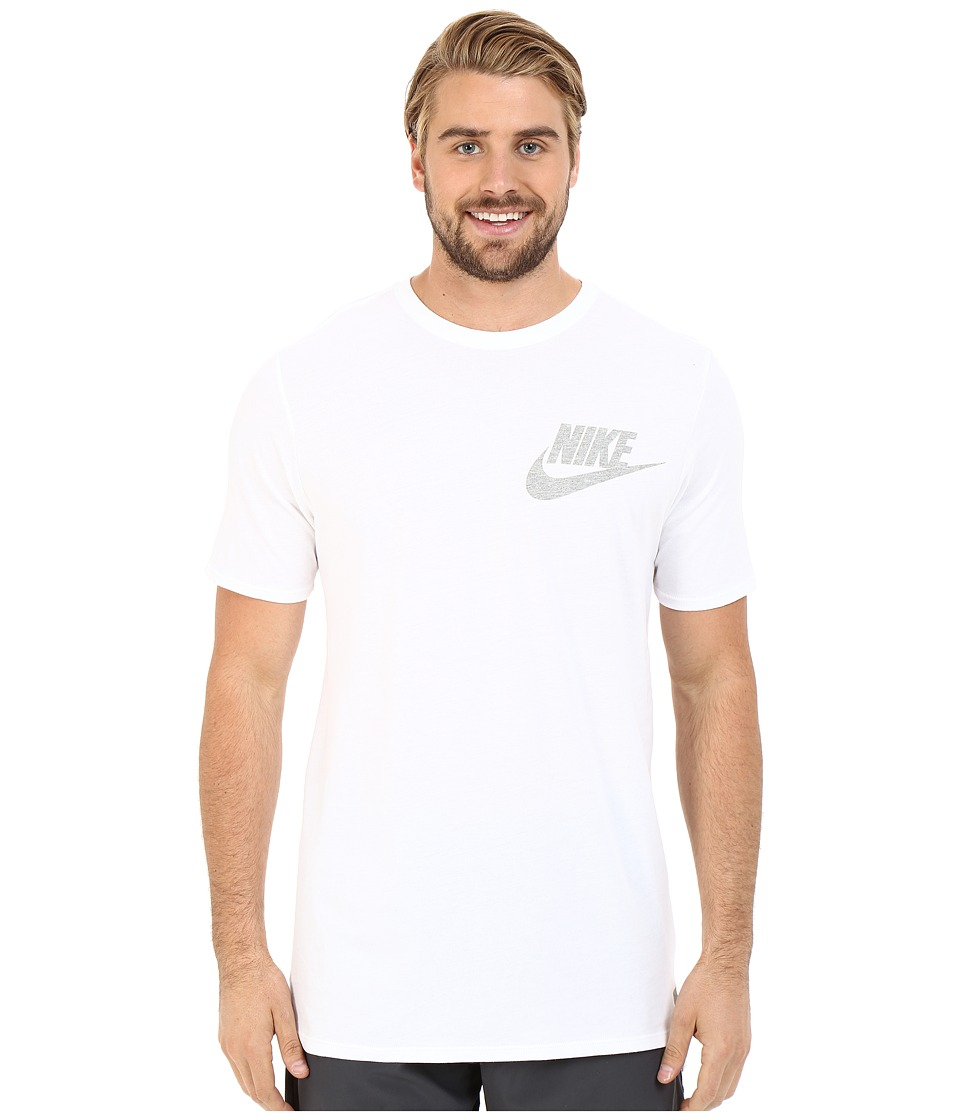 Nike - Futura Drop Hem Tee (White) Men's T Shirt