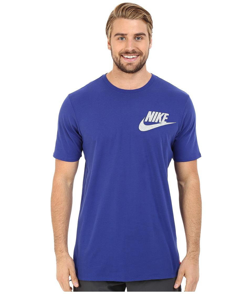 Nike - Futura Drop Hem Tee (Deep Royal Blue) Men's T Shirt