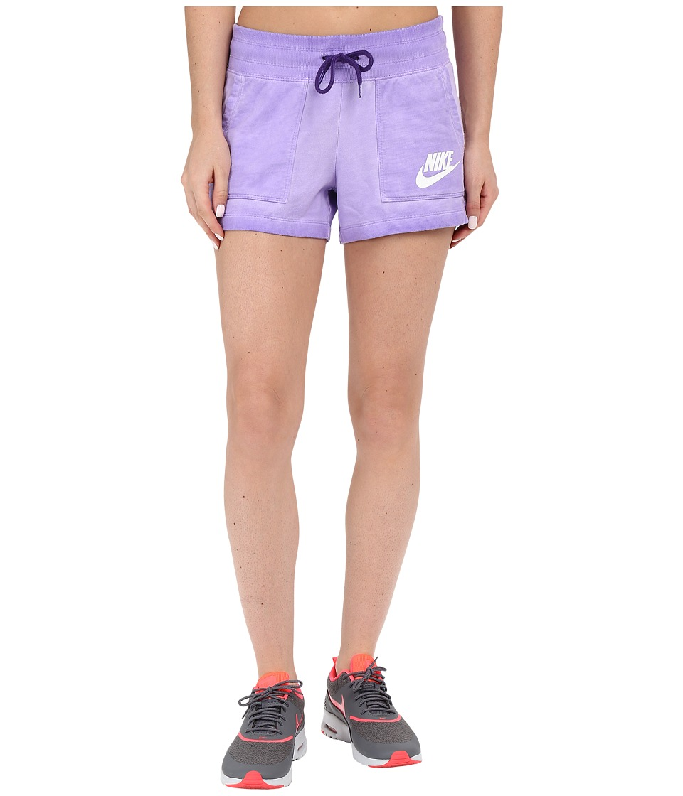 Nike - Wash Shorts (Court Purple/White) Women's Shorts