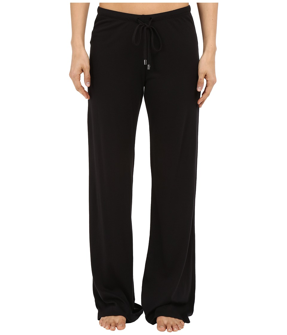 Yummie by Heather Thomson - Pima Jersey Wide Leg Pants (Black) Women's Casual Pants