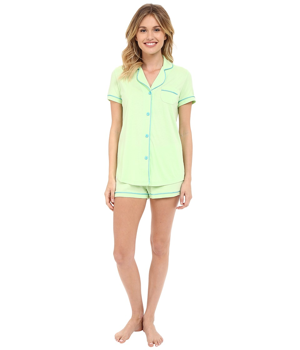 Cosabella - Bella S/S Top Boxer Pajama Set (Paradise Green/Blue Mediterraneo) Women's Pajama Sets