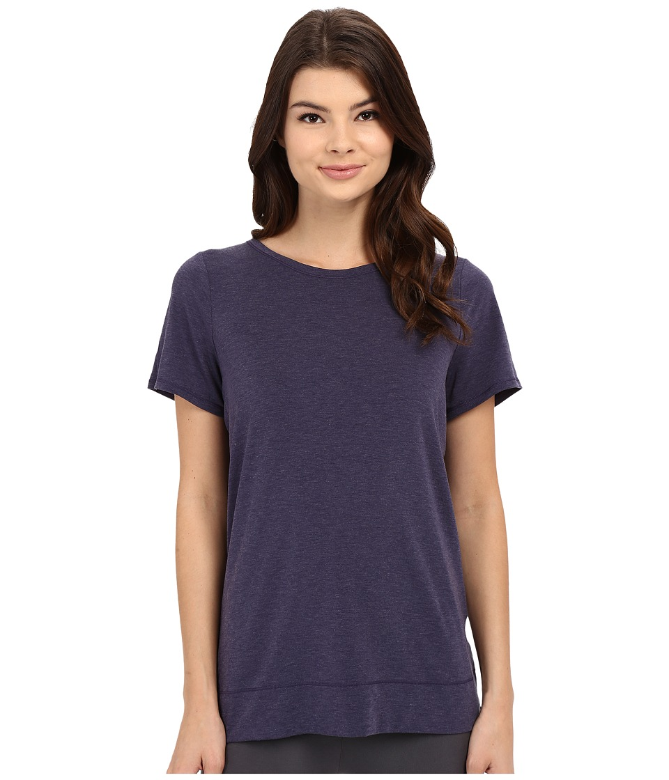 Yummie by Heather Thomson - Crew Neck Open Back Short Sleeve Cover-Up Tee (Eclipse) Women's T Shirt