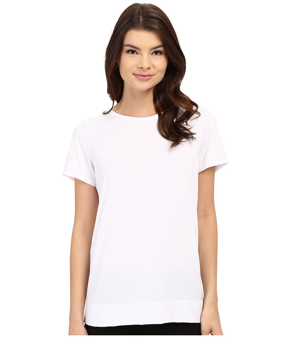 Yummie by Heather Thomson - Crew Neck Open Back Short Sleeve Cover-Up Tee (White) Women's T Shirt