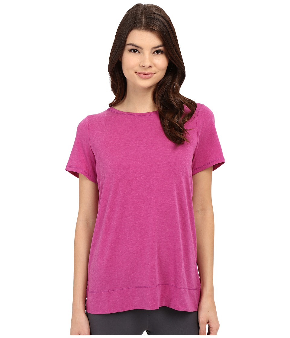 Yummie by Heather Thomson Crew Neck Open Back Short Sleeve Cover-Up Tee (Wild Aster) Women