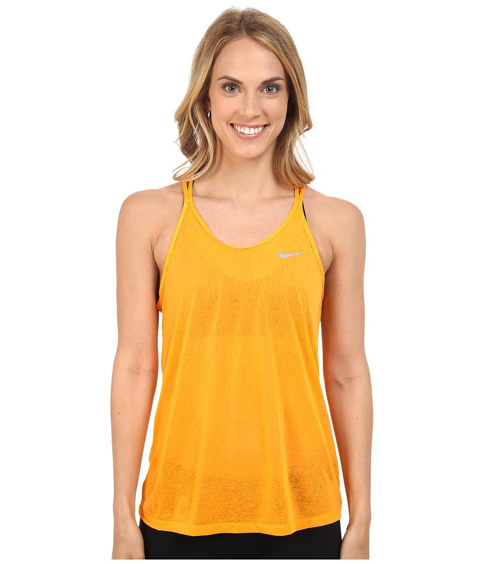 Nike - Dri-FIT Cool Breeze Strappy Running Tank Top (Vivid Orange) Women's Sleeveless
