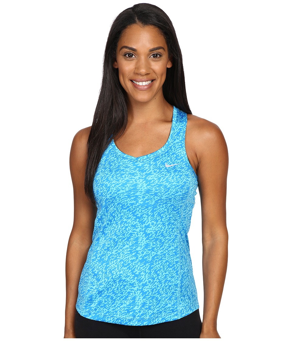 Nike Pronto Miler Running Tank Top (Omega Blue/Reflective Silver) Women