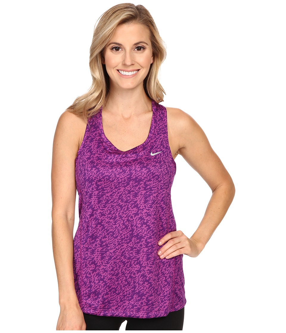 Nike - Pronto Miler Running Tank Top (Cosmic Purple/Reflective Silver) Women's Sleeveless
