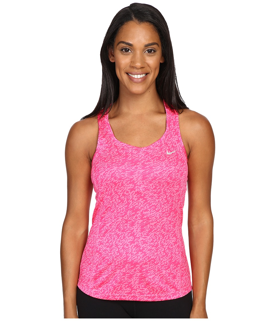 Nike - Pronto Miler Running Tank Top (Hyper PInk/Reflective Silver) Women's Sleeveless