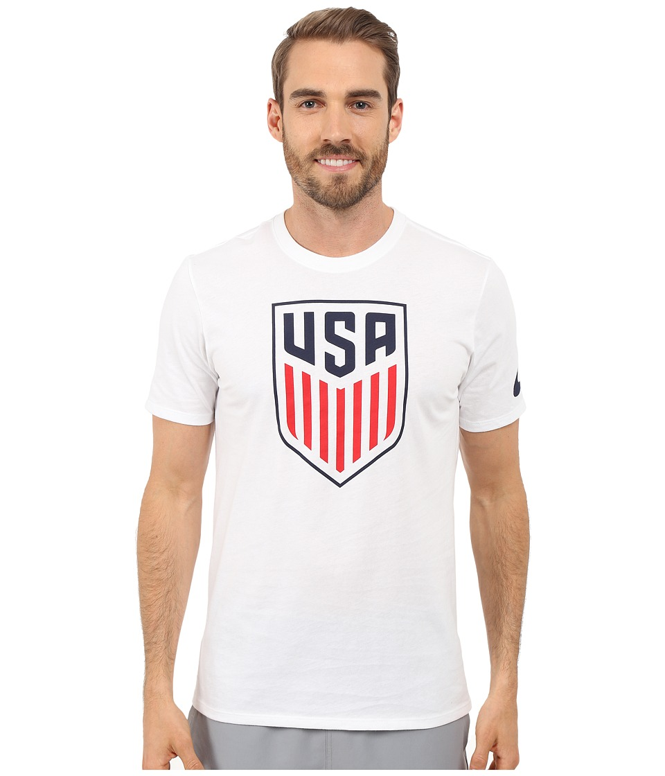 Nike - USA Crest Tee (White) Men's Clothing