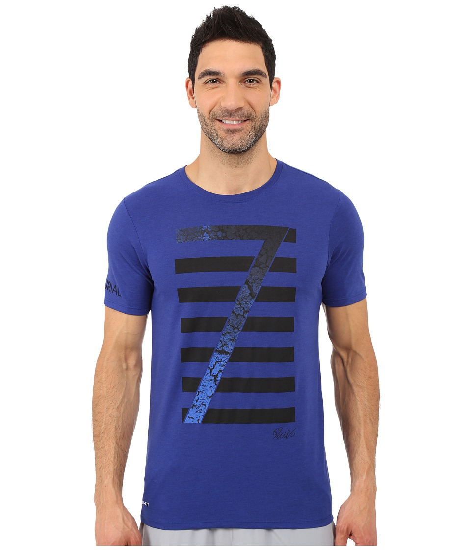 Nike - Ronaldo Logo Tee (Deep Royal Blue/Deep Royal Blue) Men's T Shirt