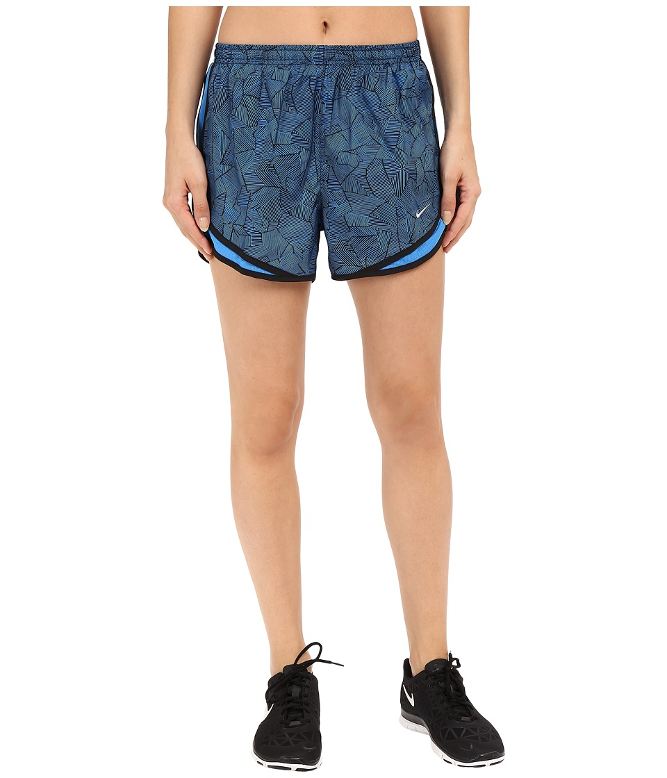 Nike - Canopy Tempo Shorts (Light Photo Blue/Black/Reflective Silver) Women's Shorts