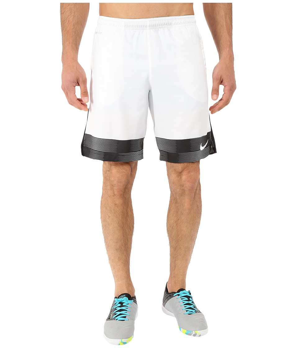 Nike - Strike Printed Graphic Woven 2 Soccer Short (White) Men's Shorts