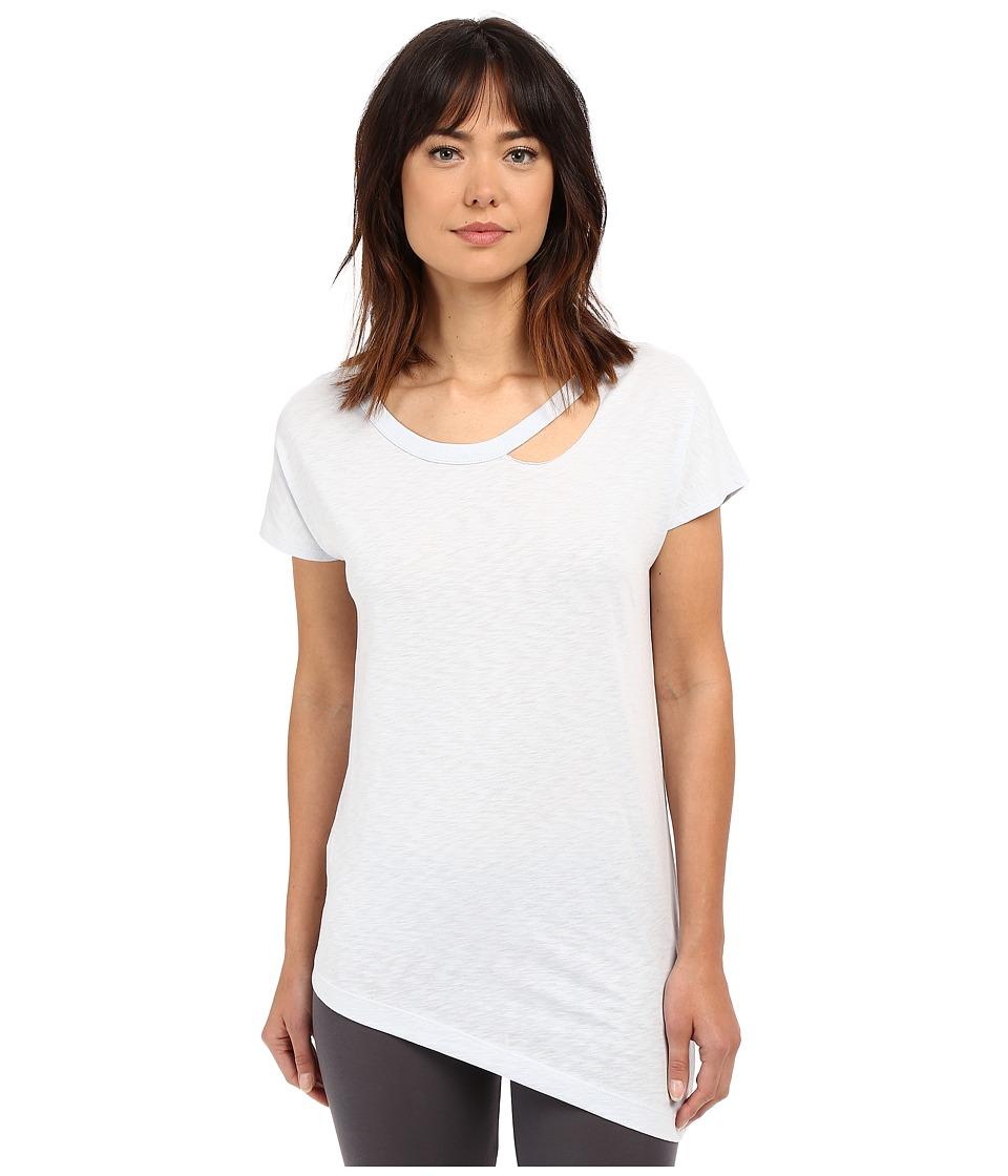 Yummie by Heather Thomson - Jersey Slub Dropped Neckline Cut Out Tee (Plein Air) Women's T Shirt