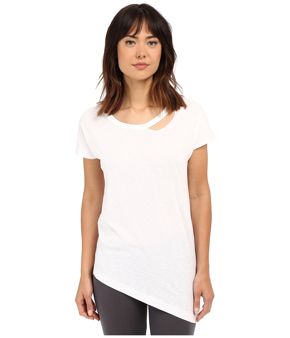 Yummie by Heather Thomson - Jersey Slub Dropped Neckline Cut Out Tee (White) Women's T Shirt