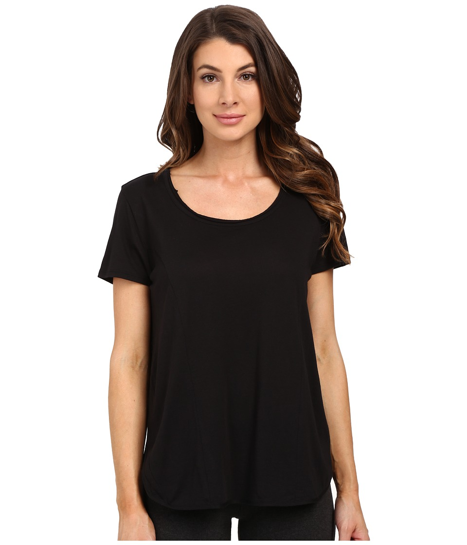 Yummie by Heather Thomson - Pima Jersey Tee w/ Side Vents (Black) Women's T Shirt