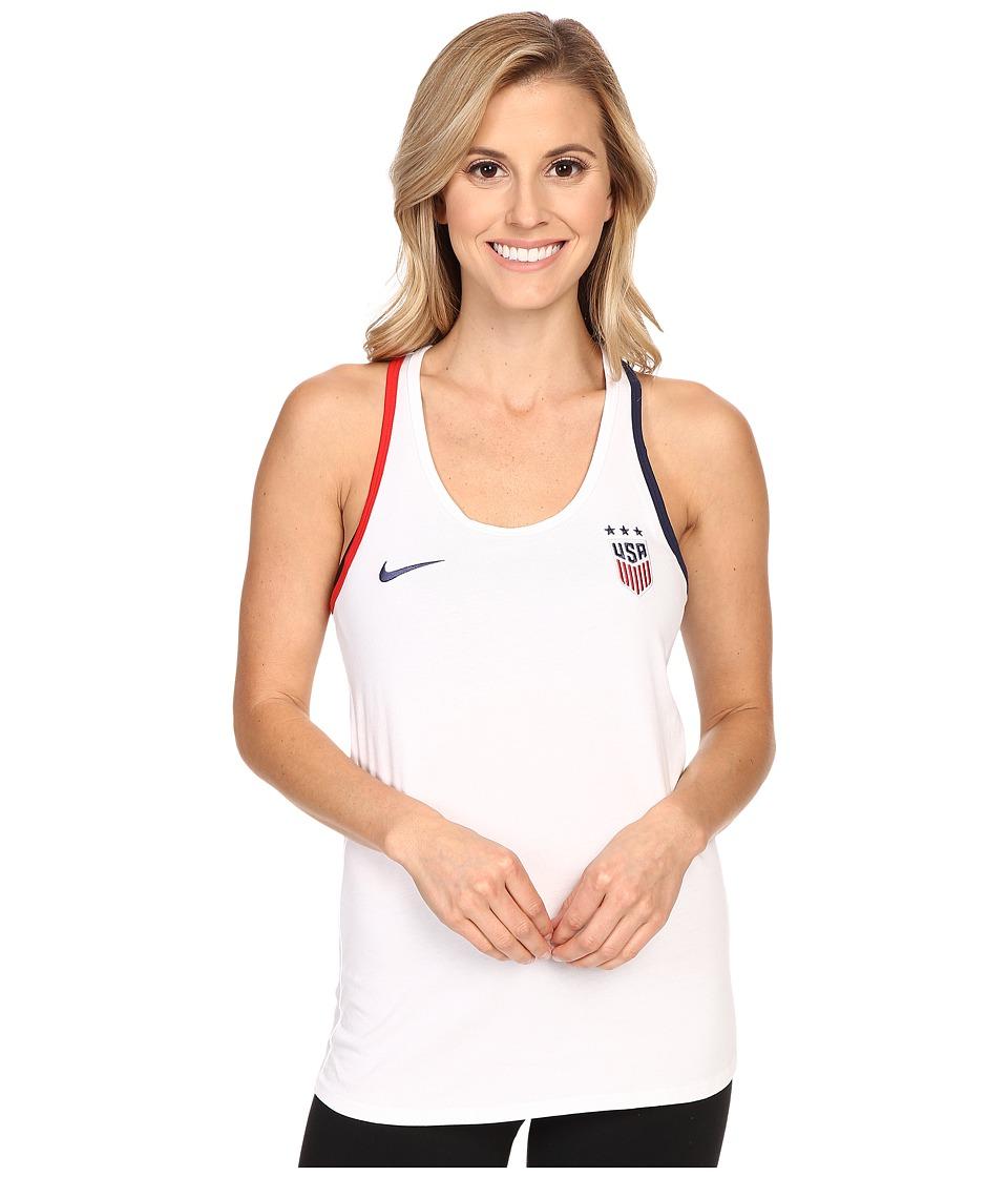 Nike - USA Crest Tank Top (White) Women's Clothing
