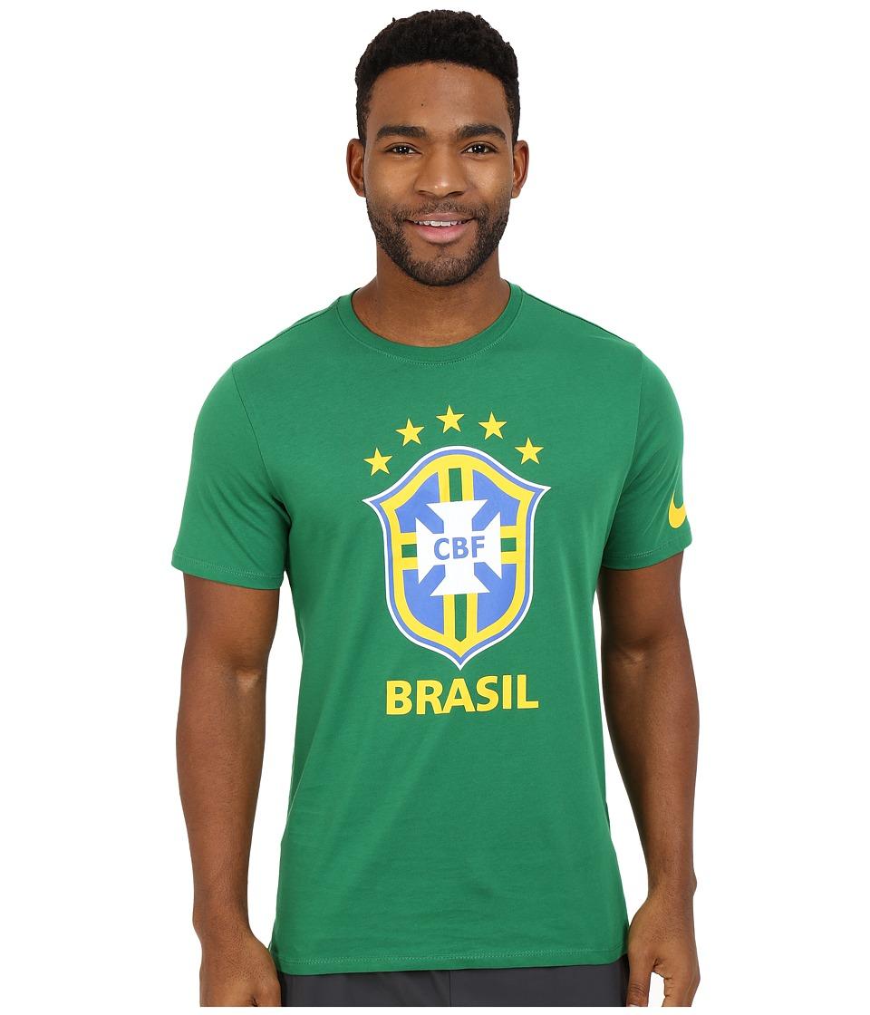 Nike - Brazil CBF Crest Tee (Pine Green) Men's T Shirt