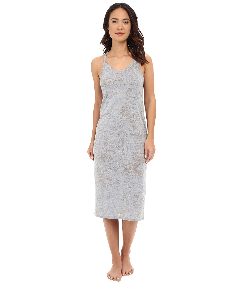 Yummie - Jersey Burnout Chemise (Plein Air/Light Gray) Women's Pajama
