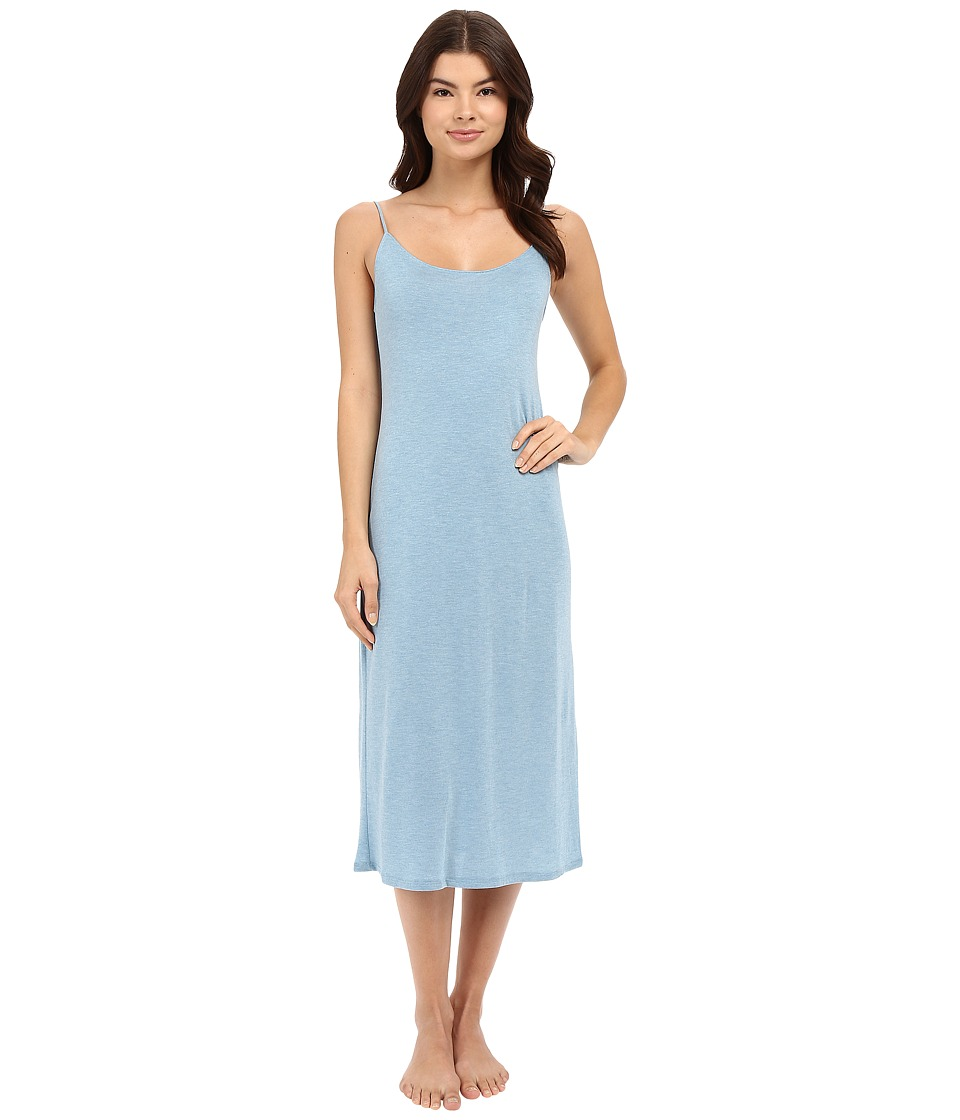 Natori - Shangri-La Gown (Heather Sailor Blue) Women's Pajama