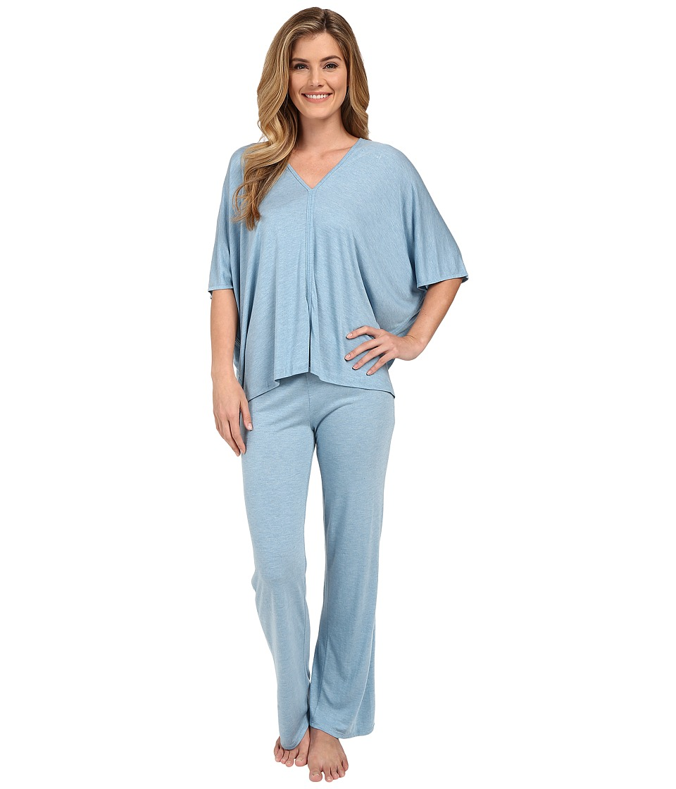 Natori - Shangri-La Tunic PJ (Heather Sailor Blue) Women's Pajama Sets